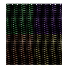 Multicolor Pattern Digital Computer Graphic Shower Curtain 66  x 72  (Large)