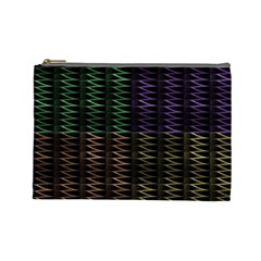 Multicolor Pattern Digital Computer Graphic Cosmetic Bag (large)