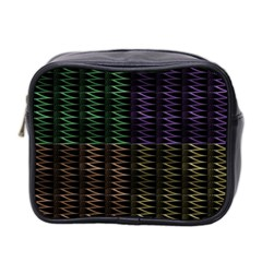 Multicolor Pattern Digital Computer Graphic Mini Toiletries Bag 2-Side