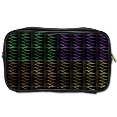 Multicolor Pattern Digital Computer Graphic Toiletries Bags 2 Side