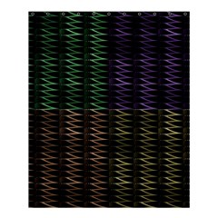 Multicolor Pattern Digital Computer Graphic Shower Curtain 60  X 72  (medium)