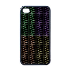 Multicolor Pattern Digital Computer Graphic Apple Iphone 4 Case (black)