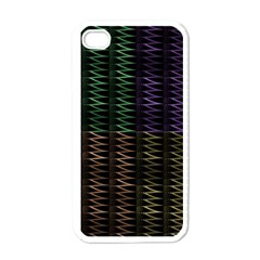 Multicolor Pattern Digital Computer Graphic Apple Iphone 4 Case (white)