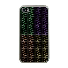 Multicolor Pattern Digital Computer Graphic Apple iPhone 4 Case (Clear)