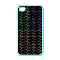 Multicolor Pattern Digital Computer Graphic Apple iPhone 4 Case (Color)