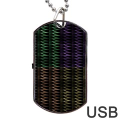 Multicolor Pattern Digital Computer Graphic Dog Tag USB Flash (Two Sides)