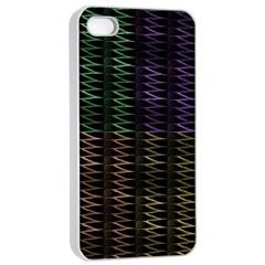 Multicolor Pattern Digital Computer Graphic Apple iPhone 4/4s Seamless Case (White)