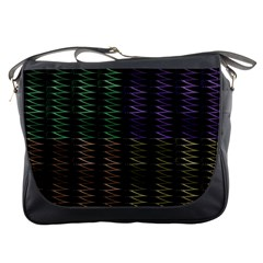 Multicolor Pattern Digital Computer Graphic Messenger Bags