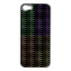 Multicolor Pattern Digital Computer Graphic Apple iPhone 5 Case (Silver)