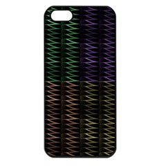 Multicolor Pattern Digital Computer Graphic Apple iPhone 5 Seamless Case (Black)