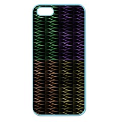 Multicolor Pattern Digital Computer Graphic Apple Seamless Iphone 5 Case (color)