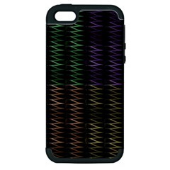 Multicolor Pattern Digital Computer Graphic Apple Iphone 5 Hardshell Case (pc+silicone)