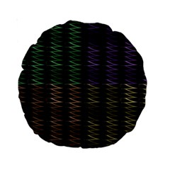 Multicolor Pattern Digital Computer Graphic Standard 15  Premium Round Cushions