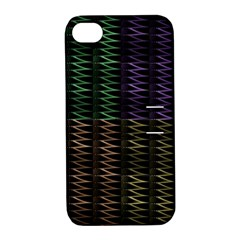 Multicolor Pattern Digital Computer Graphic Apple iPhone 4/4S Hardshell Case with Stand