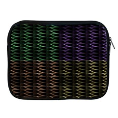 Multicolor Pattern Digital Computer Graphic Apple Ipad 2/3/4 Zipper Cases