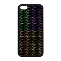 Multicolor Pattern Digital Computer Graphic Apple iPhone 5C Seamless Case (Black)