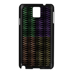 Multicolor Pattern Digital Computer Graphic Samsung Galaxy Note 3 N9005 Case (Black)