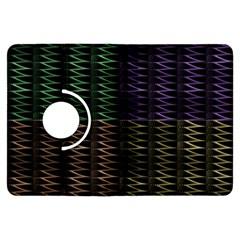 Multicolor Pattern Digital Computer Graphic Kindle Fire Hdx Flip 360 Case