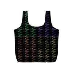 Multicolor Pattern Digital Computer Graphic Full Print Recycle Bags (s)