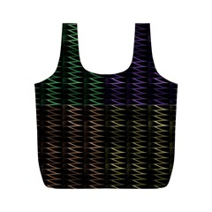 Multicolor Pattern Digital Computer Graphic Full Print Recycle Bags (M)