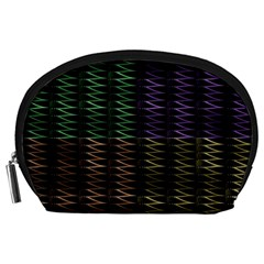 Multicolor Pattern Digital Computer Graphic Accessory Pouches (large)