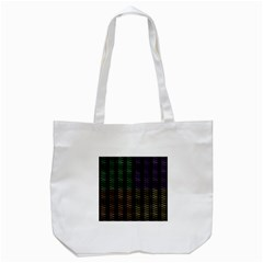Multicolor Pattern Digital Computer Graphic Tote Bag (white)