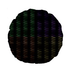 Multicolor Pattern Digital Computer Graphic Standard 15  Premium Flano Round Cushions