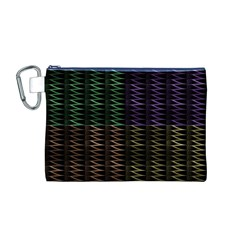 Multicolor Pattern Digital Computer Graphic Canvas Cosmetic Bag (m)