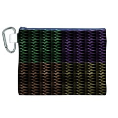 Multicolor Pattern Digital Computer Graphic Canvas Cosmetic Bag (XL)