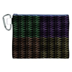 Multicolor Pattern Digital Computer Graphic Canvas Cosmetic Bag (xxl)