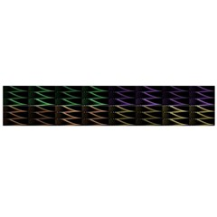 Multicolor Pattern Digital Computer Graphic Flano Scarf (Large)