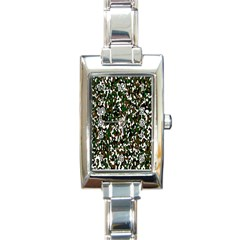 Camouflaged Seamless Pattern Abstract Rectangle Italian Charm Watch