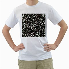 Camouflaged Seamless Pattern Abstract Men s T Shirt (white) (two Sided)