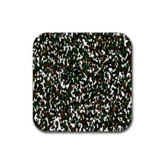 Camouflaged Seamless Pattern Abstract Rubber Square Coaster (4 pack)