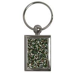 Camouflaged Seamless Pattern Abstract Key Chains (Rectangle)