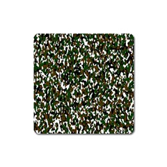 Camouflaged Seamless Pattern Abstract Square Magnet