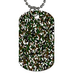 Camouflaged Seamless Pattern Abstract Dog Tag (Two Sides)