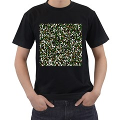 Camouflaged Seamless Pattern Abstract Men s T-Shirt (Black) (Two Sided)