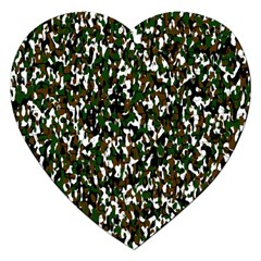 Camouflaged Seamless Pattern Abstract Jigsaw Puzzle (Heart)