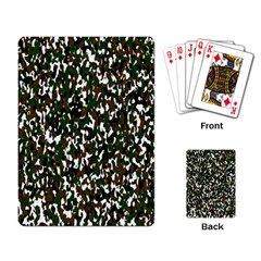 Camouflaged Seamless Pattern Abstract Playing Card