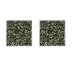 Camouflaged Seamless Pattern Abstract Cufflinks (Square)
