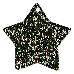 Camouflaged Seamless Pattern Abstract Star Ornament (Two Sides)