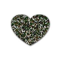 Camouflaged Seamless Pattern Abstract Heart Coaster (4 pack)
