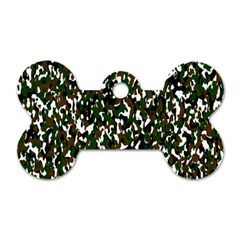Camouflaged Seamless Pattern Abstract Dog Tag Bone (Two Sides)