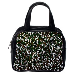 Camouflaged Seamless Pattern Abstract Classic Handbags (One Side)