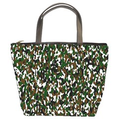 Camouflaged Seamless Pattern Abstract Bucket Bags