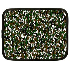 Camouflaged Seamless Pattern Abstract Netbook Case (XL)