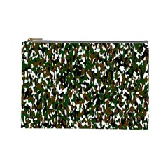 Camouflaged Seamless Pattern Abstract Cosmetic Bag (large)