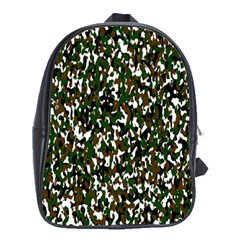 Camouflaged Seamless Pattern Abstract School Bags(Large)