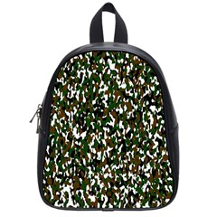 Camouflaged Seamless Pattern Abstract School Bags (small)